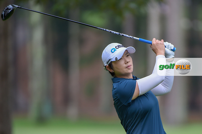 Eun-Hee Ji (KOR) watches her tee shot on 11 during round 1 of the U.S. Women's Open Championship, Shoal Creek Country Club, at Birmingham, Alabama, USA. 5/31/2018.<br /> Picture: Golffile | Ken Murray<br /> <br /> All photo usage must carry mandatory copyright credit (© Golffile | Ken Murray)