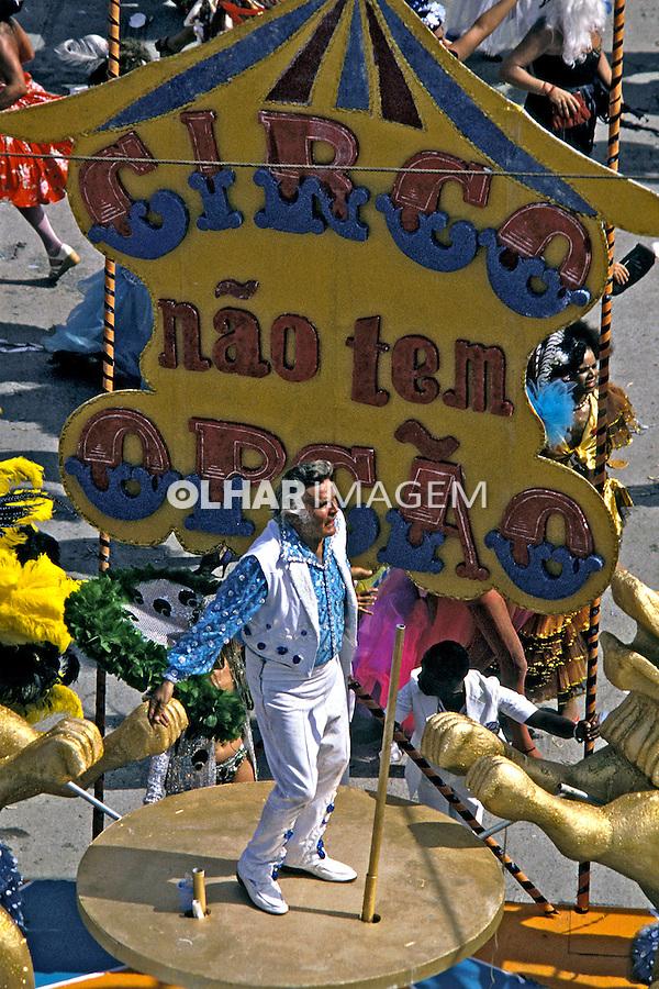 Desfile de carnaval da Beija Flor. Rio de Janeiro. I985. Foto de Juca Martins.