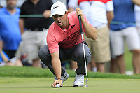 Rory McIlroy (NIR) on the 8th green during Saturday's Round 3 of the WGC Bridgestone Invitational 2017 held at Firestone Country Club, Akron, USA. 5th August 2017.<br /> Picture: Eoin Clarke | Golffile<br /> <br /> <br /> All photos usage must carry mandatory copyright credit (&copy; Golffile | Eoin Clarke)