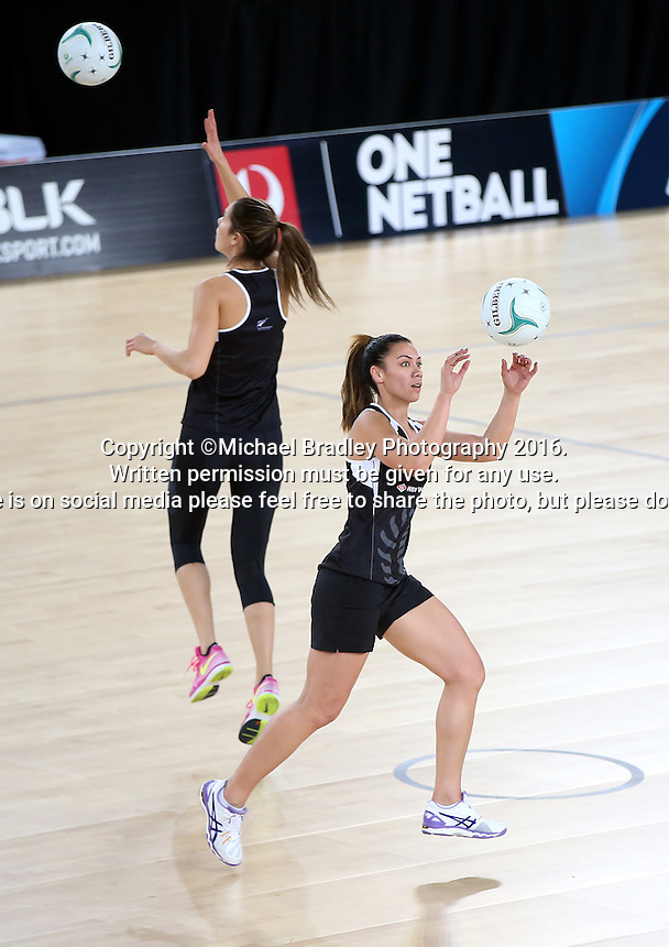 02.09.2016 Silver Ferns Grace Rasmussen as the Silver Ferns have a walk though during training in Melbourne Australia ahead of their match against Australia. Mandatory Photo Credit ©Michael Bradley.
