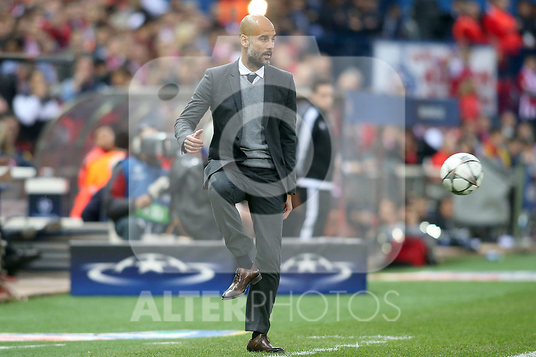 FC Bayern Munchen's coach Pep Guardiola during Champions League 2015/2016 Semi-Finals 1st leg match. April 27,2016. (ALTERPHOTOS/Acero)