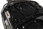 Car stock 2018 Jaguar F-Type R Dynamic 2 Door Convertible engine high angle detail view