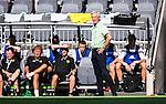 Stockholm 2014-05-24 Fotboll Superettan Hammarby IF - Varbergs BoIS FC  :  <br /> Hammarbys tr&auml;nare Nanne Bergstrand ser p&aring; matchen framf&ouml;r avbytarb&auml;nken<br /> (Foto: Kenta J&ouml;nsson) Nyckelord:  Superettan Tele2 Arena HIF Bajen Varberg BoIS portr&auml;tt portrait