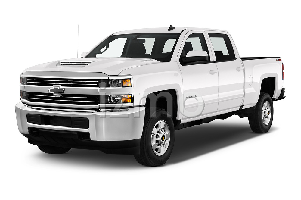 2018 Chevrolet Silverado 2500HD LT 4WD Crew Cab 4 Door Pick Up angular front stock photos of front three quarter view