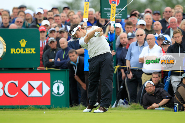 Louis Oosthuizen (RSA) tees off the 14th tee during Thursday's Round 1 of the 141st Open Championship at Royal Lytham & St.Annes, England 19th July 2012 (Photo Eoin Clarke/www.golffile.ie)