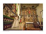 Altar and sanctuary, Serra Chapel, San Juan Capistrano by Larry Angier.