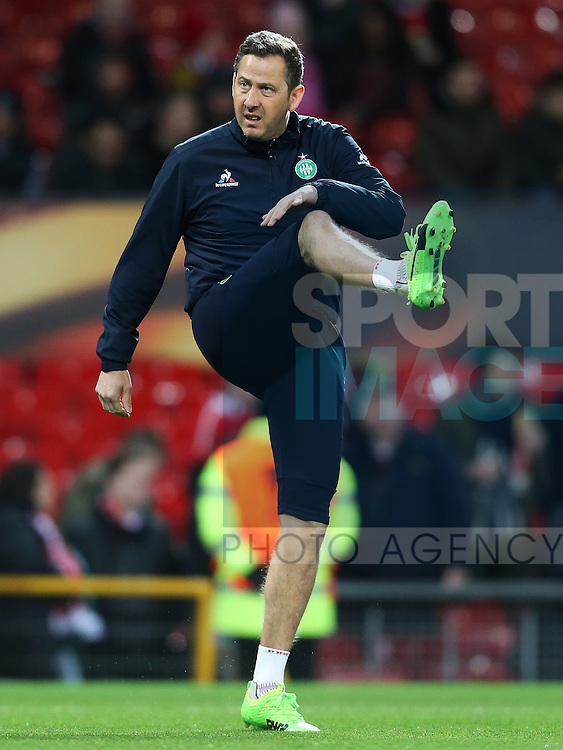Saint-Etienne goalkeeping coach Fabrice Grange during the UEFA Europa League Round of 32 1st leg match at Old Trafford Stadium, Manchester. Picture date: February 16th, 2017. Pic credit should read: Matt McNulty/Sportimage