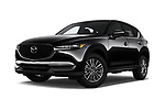 Stock pictures of low aggressive front three quarter view of a 2017 Mazda CX-5 Sport 5 Door SUV