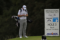 Max Orrin (ENG) on the 3rd tee during Round 1 of the Bridgestone Challenge 2017 at the Luton Hoo Hotel Golf &amp; Spa, Luton, Bedfordshire, England. 07/09/2017<br /> Picture: Golffile | Thos Caffrey<br /> <br /> <br /> All photo usage must carry mandatory copyright credit     (&copy; Golffile | Thos Caffrey)