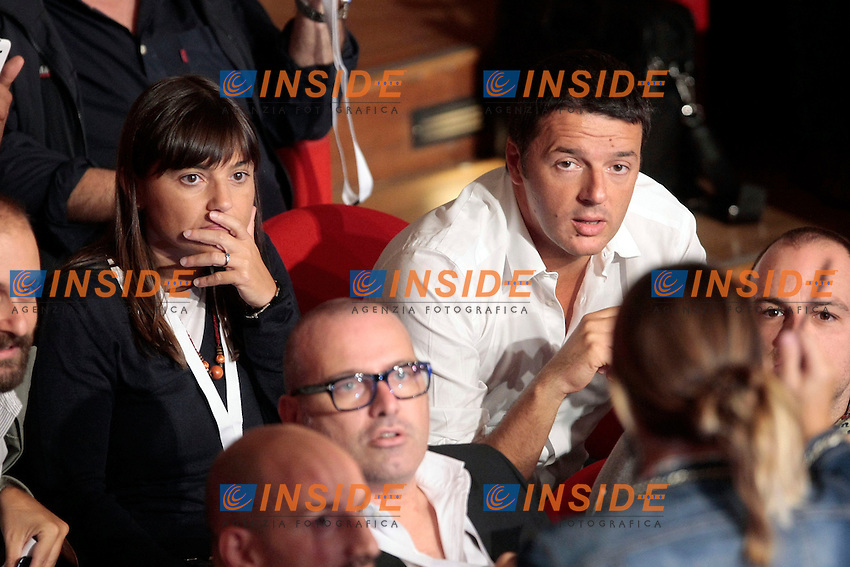 Debora Serracchiani e Matteo Renzi <br /> Roma 21-09-2013 Auditorium della Conciliazione. Assemblea Nazionale del Partito Democratico.<br /> National Assembly of Democratic Party.<br /> Photo Samantha Zucchi Insidefoto