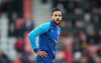 Theo Walcott of Arsenal warms up ahead of the Premier League match between Bournemouth and Arsenal at the Goldsands Stadium, Bournemouth, England on 14 January 2018. Photo by Andy Rowland.