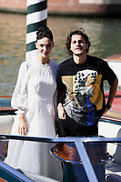 VENICE, ITALY - SEPTEMBER 03: Matilda De Angelis and Andrea Arcangeli during 74nd Venice Film Festival at Palazzo Del Cinema on September 3, 2017 in Venice, Italy. (Mark Cape/insidefoto)