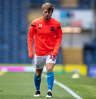 11th July 2020; Ewood Park, Blackburn, Lancashire, England; English Football League Championship Football, Blackburn Rovers versus West Bromwich Albion; Jacob Davenport of Blackburn Rovers warms up before the game Strictly Editorial Use Only. No use with unauthorized audio, video, data, fixture lists, club/league logos or 'live' services. Online in-match use limited to 120 images, no video emulation. No use in betting, games or single club/league/player publications