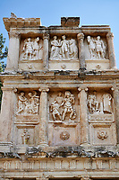 Sebasteion sanctuary building ruins and relief panels,  Aphrodisias Archaeological Site, Aydin Province, Turkey.