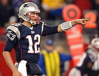 New England Patriots quarterback Tom biltzer an AFC divisional playoff game at Gillette Stadium in Foxborough, MA. (The Florida Times-Union, Rick Wilson)