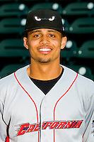 California League Rico Noel #1 of the Lake Elsinore Storm All-Star at BB&T Ballpark on June 19, 2012 in Winston-Salem, North Carolina.  (Brian Westerholt/Four Seam Images)