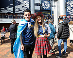 Scotland's fans enjoy the atmosphere during the FIFA World Cup Qualifying match at Hampden Park Stadium, Glasgow Picture date 10th June 2017. Picture credit should read: David Klein/Sportimage