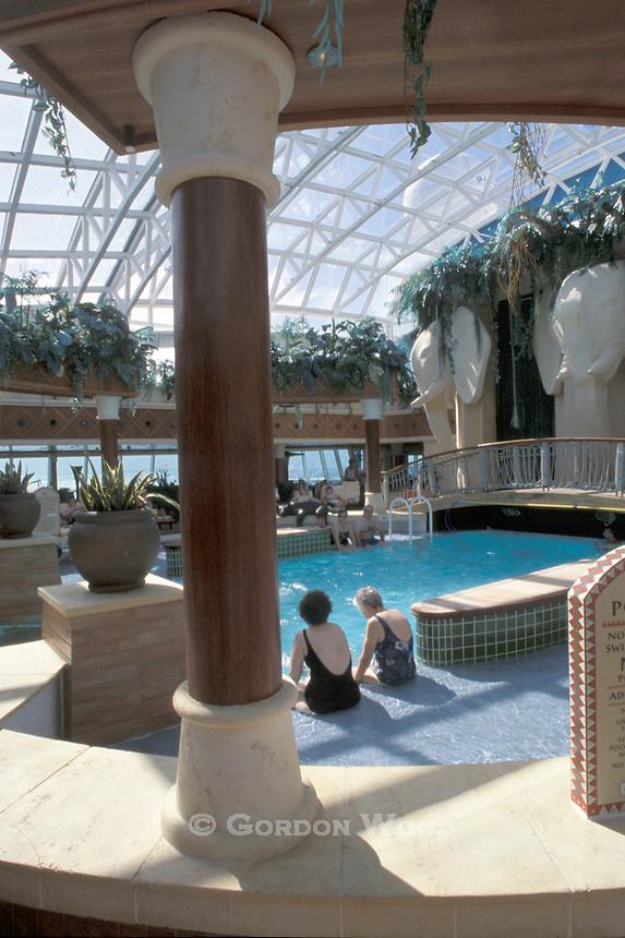 Indoor Swimming Pool on Cruise Ship