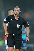 Referee, Mr Darren Handley, during the Sky Bet League 2 match between Wycombe Wanderers and Morecambe at Adams Park, High Wycombe, England on 12 November 2016. Photo by David Horn.