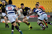 Wellington&rsquo;s Jackson Garden-Bachop in action during the Mitre 10 Cup - Wellington v Auckland at Westpac Stadium, Wellington, New Zealand on Thursday 4 October 2018. <br /> Photo by Masanori Udagawa. <br /> www.photowellington.photoshelter.com