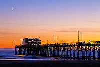 Newport Beach Pier At Dusk