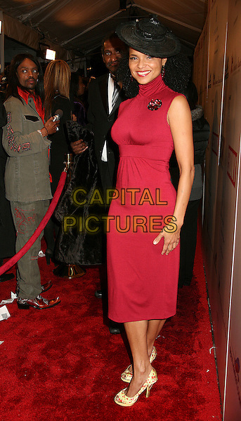 VICTORIA ROWELL.Ebony Hosts 3rd Annual Pre-Oscar Celebration at Jim Henson Studios, Hollywood, California, USA..February 22nd, 2007.full length red sleeveless dress high collar .CAP/ADM/BP.©Byron Purvis/AdMedia/Capital Pictures