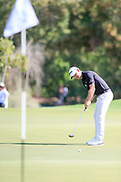 Paul Waring (ENG) on the 5th green during the 2nd round of the DP World Tour Championship, Jumeirah Golf Estates, Dubai, United Arab Emirates. 22/11/2019<br /> Picture: Golffile | Fran Caffrey<br /> <br /> <br /> All photo usage must carry mandatory copyright credit (© Golffile | Fran Caffrey)