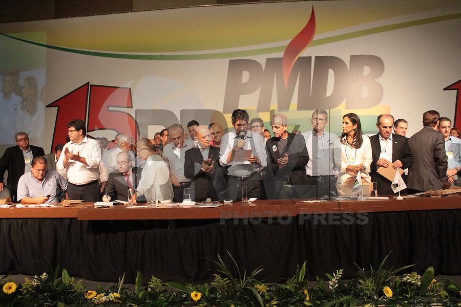 BRASÍLIA, DF 02 DE MARÇO 2013 - CONVENÇÃO NACIONAL DO PMDB EM BRASÍLIA.  Convensão nacional do PMDB no Auditório do Centro Empresarial Brasil 21  em Brasilia neste sabado, 02.  FOTO RONALDO BRANDÃO/BRAZIL PHOTO PRESS