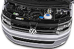 Car Stock 2014 Volkswagen CARAVELLE COMFORTLINE 4 Door Passenger Van Engine high angle detail view