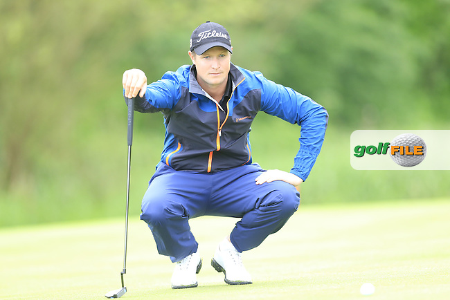 Bjorn Akesson (SWE) on the 17th green during Thursday's Round 1 of the 2016 Dubai Duty Free Irish Open hosted by Rory Foundation held at the K Club, Straffan, Co.Kildare, Ireland. 19th May 2016.<br /> Picture: Eoin Clarke | Golffile<br /> <br /> <br /> All photos usage must carry mandatory copyright credit (&copy; Golffile | Eoin Clarke)