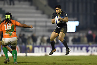 Ben Tapuai of Bath Rugby claims the ball in the air. European Rugby Champions Cup match, between Benetton Rugby and Bath Rugby on January 20, 2018 at the Municipal Stadium of Monigo in Treviso, Italy. Photo by: Patrick Khachfe / Onside Images