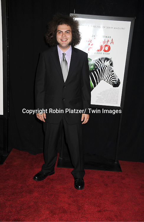 "actor Dustin Ybarra attends The New York Screening of ""We Bought A Zoo"" on December 12, 2011 at The Ziegfeld Theatre in New York City. The movie stars Matt Damon, Scarlett Johansson, Thomas Haden Church, Patrick Fugit, Colin Ford, Elle Fanning and John Michael Higgins."