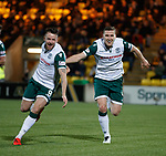 29.03.2019 Livingston v Hibs: Paul Hanlon celebrates
