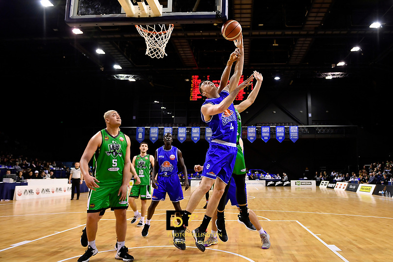 Saints' Nick Kay in action during the NBL - Cigna Saints v Manawatu Jets at TSB Bank Arena, Wellington, New Zealand on Sunday 30 June 2019. <br /> Photo by Masanori Udagawa. <br /> www.photowellington.photoshelter.com