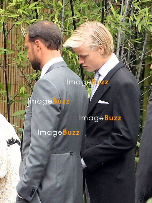 Arrival of the guests of the marriage of Pierre and B&eacute;atrice<br /> <br /> Prince Haakon de Norv&egrave;ge;Marius Borg Hoiby