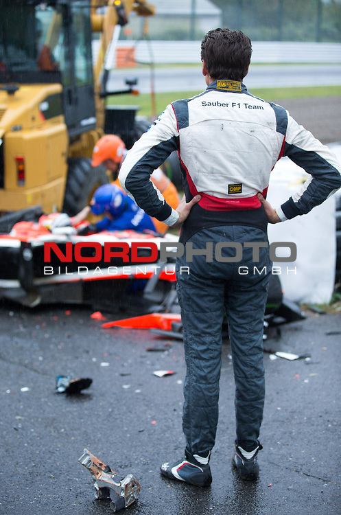 Crash - Jules Bianchi  (FRA), Marussia F1 Team - Adrian Sutil (GER), Sauber F1 Team<br /> for the complete Middle East, Austria &amp; Germany Media usage only!<br />  Foto &copy; nph / Mathis