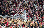 The Alabama Crimson Tide band plays in the second half of the NCAA College Football Playoff National Championship against the Georgia Bulldogs at Mercedes-Benz Stadium on January 8, 2018 in Atlanta. Photo by Mark Wallheiser/UPI