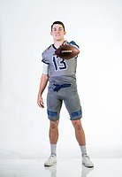 NWA Democrat-Gazette/BEN GOFF @NWABENGOFF<br /> Connor Noland, Greenwood quarterback, poses for a photo Thursday, Dec. 7, 2017, in the NWA Democrat-Gazette studio in Springdale.