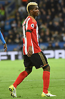 Didier N'Dong of Sunderland during the Premier League match between Leicester City v Sunderland played at King Power Stadium, Leicester on 4th April 2017.<br /> <br /> <br /> available via IPS Photo Agency/Rex Features  only