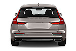 Straight rear view of a 2020 Volvo V60 Inscription 5 Door Wagon stock images