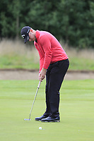 Scott Henry (SCO) takes his putt on the 1st green during Sunday's Final Round of the Northern Ireland Open 2018 presented by Modest Golf held at Galgorm Castle Golf Club, Ballymena, Northern Ireland. 19th August 2018.<br /> Picture: Eoin Clarke | Golffile<br /> <br /> <br /> All photos usage must carry mandatory copyright credit (&copy; Golffile | Eoin Clarke)