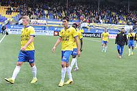 VOETBAL: LEEUWARDEN: 26-10-2014, Canbuurstadion, Cambuur - Feyenoord, uitslag 0-1, Bob Schepers (Cambuur), Martijn Barto (Cambuur), ©foto Martin de Jong