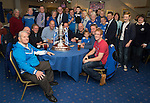Fans pictured with the Chariman Steve Brown and the Scottish Cup prior to the 4th round Scottish Cup tie against Ross County....29.11.14<br /> Picture by Graeme Hart.<br /> Copyright Perthshire Picture Agency<br /> Tel: 01738 623350  Mobile: 07990 594431