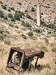 Smelter chimney in the ghost town of Troy, Grant Range, Nevada<br /> <br /> (Le Roi Rix compressor)