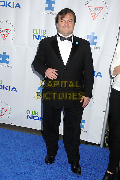 Jack Black.Light Up The Blues Concert –- An Evening of Music Benefiting Autism Speaks at Club Nokia held at Club Nokia, Los Angeles, California, USA, 13th April 2013..full length shirt black tuxedo tux bow tie white .CAP/ADM/BP.©Byron Purvis/AdMedia/Capital Pictures