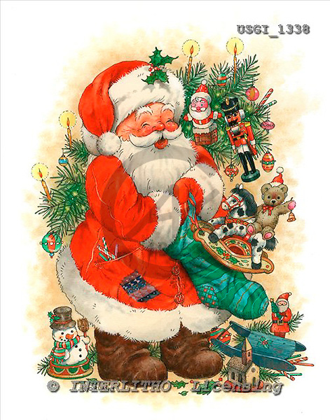 GIORDANO, CHRISTMAS SANTA, SNOWMAN, WEIHNACHTSMÄNNER, SCHNEEMÄNNER, PAPÁ NOEL, MUÑECOS DE NIEVE, paintings+++++,USGI1338,#X#