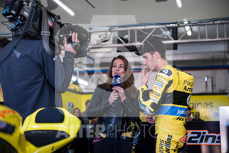 VALENCIA, SPAIN - NOVEMBER 11: Alex Rins during Valencia MotoGP 2016 at Ricardo Tormo Circuit on November 11, 2016 in Valencia, Spain