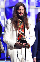 "Ludwig Goransson, accepts the award for record of the year for ""This Is America"" at the 61st annual Grammy Awards on Sunday, Feb. 10, 2019, in Los Angeles. (Photo by Matt Sayles/Invision/AP)"