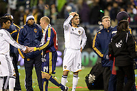 David Beckham appears dejected after.Real Salt Lake defeated the Los Angles Galaxy 5-4 on penalty kicks to win the 2009 MLS Cup at Qwest Field, Sunday, Nov. 22, 2009.
