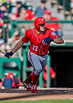 25 February 2019: Washington Nationals outfielder Andrew Stevenson in action during a pre-season Spring Training game against the Atlanta Braves at Champion Stadium in the ESPN Wide World of Sports Complex in Kissimmee, Florida. The Braves defeated the Nationals 9-4 in Grapefruit League play in what will be the Braves' last season at the Disney / ESPN Wide World of Sports complex. Mandatory Credit: Ed Wolfstein Photo *** RAW (NEF) Image File Available ***